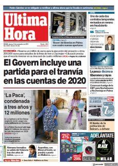 EL GOVERN INCLUYE UNA PARTIDA PARA EL TRANVÍA EN LAS CUENTAS DE 2020