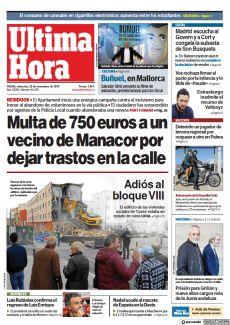 MULTA DE 750 EUROS A UN VECINO DE MANACOR POR DEJAR TRASTOS EN LA CALLE