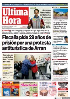 FISCALÍA PIDE 29 AÑOS DE PRISIÓN POR UNA PROTESTA ANTITURÍSTICA DE ARRAN