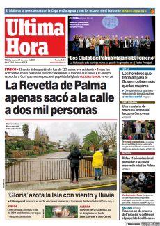 LA REVETLA DE PALMA APENAS SACÓ A LA CALLE A DOS MIL PERSONAS