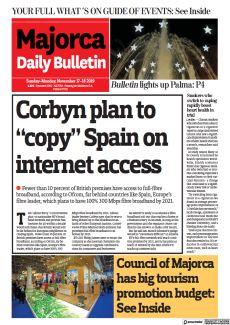 "CORBYN PLAN TO ""COPY"" SPAIN ON INTERNET ACCESS"