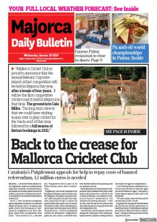 BACK TO THE CREASE FOR MALLORCA CRICKET CLUB