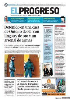 DETENIDO EN UNA CASA DE OUTEIRO DE REI CON LINGOTES DE ORO Y UN ARSENAL DE ARMAS