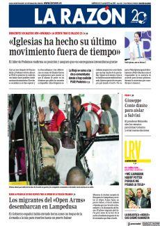LOS MIGRANTES DEL «OPEN ARMS» DESEMBARCAN EN LAMPEDUSA