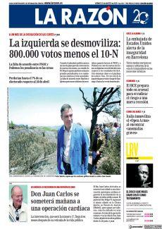 LA IZQUIERDA SE DESMOVILIZA: 800.000 VOTOS MENOS EL 10-N