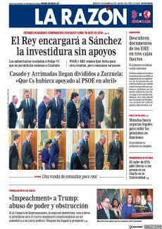 CASADO Y ARRIMADAS LLEGAN DIVIDIDOS A ZARZUELA: «QUE CS HUBIERA APOYADO AL PSOE EN ABRIL»