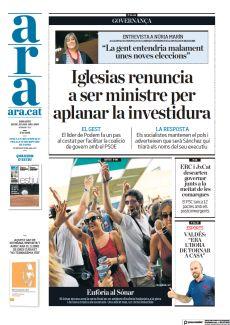 IGLESIAS RENUNCIA A SER MINISTRE PER APLANAR LA INVESTIDURA