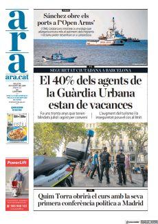 SEGURETAT CIUTADANA A BARCELONA EL 40% DELS AGENTS DE LA GUÀRDIA URBANA ESTAN DE VACANCES