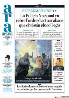 REFERÈNDUM DE L'1-O LA POLICIA NACIONAL VA REBRE L'ORDRE D'ACTUAR ABANS QUE OBRISSIN ELS COL·LEGIS