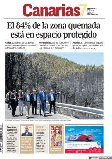 EL 84% DE LA ZONA QUEMADA ESTÁ EN ESPACIO PROTEGIDO