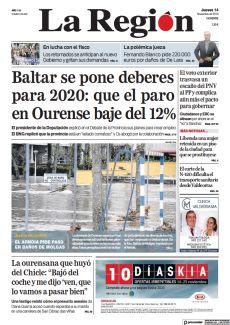 BALTAR SE PONE DEBERES PARA 2020: QUE EL PARO EN OURENSE BAJE DEL 12%