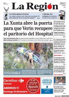 LA XUNTA ABRE LA PUERTA PARA QUE VERÍN RECUPERE EL PARITORIO DEL HOSPITAL