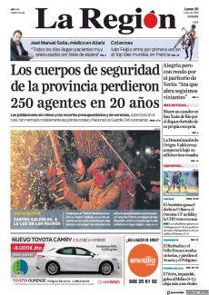 LOS CUERPOS DE SEGURIDAD DE LA PROVINCIA PERDIERON 250 AGENTES EN 20 AÑOS