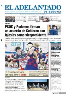 PSOE Y PODEMOS FIRMAN UN ACUERDO DE GOBIERNO CON IGLESIAS COMO VICEPRESIDENTE