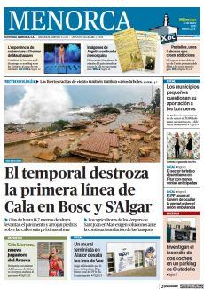EL TEMPORAL DESTROZA LA PRIMERA LÍNEA DE CALA EN BOSC Y S'ALGAR