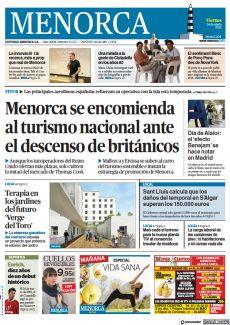 MENORCA SE ENCOMIENDA AL TURISMO NACIONAL ANTE EL DESCENSO DE BRITÁNICOS