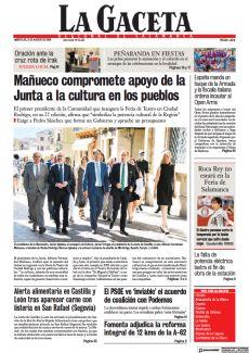 MAÑUECO COMPROMETE APOYO DE LA JUNTA A LA CULTURA EN LOS PUEBLOS