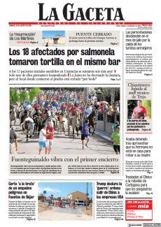 LOS 18 AFECTADOS POR SALMONELA TOMARON TORTILLA EN EL MISMO BAR