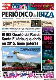 EL IES QUARTÓ DEL REI DE SANTA EULÀRIA, QUE ABRIÓ EN 2015, TIENE GOTERAS