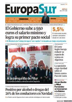 EL GOBIERNO SUBE A 950 EUROS EL SALARIO MÍNIMO Y LOGRA SU PRIMER PACTO SOCIAL