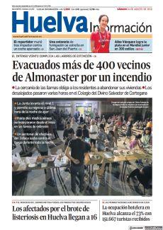 EVACUADOS MÁS DE 400 VECINOS DE ALMONASTER POR UN INCENDIO