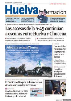 LOS ACCESOS DE LA A-49 CONTINÚAN A OSCURAS ENTRE HUELVA Y CHUCENA