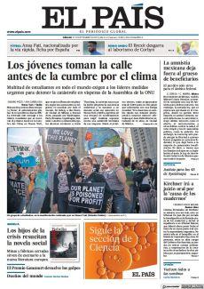 LOS JÓVENES TOMAN LA CALLE ANTES DE LA CUMBRE POR EL CLIMA